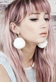 Giant pom pom earrings, so fun!