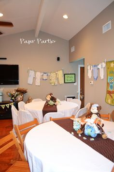 BOY Baby Shower...you can see the rest of this Monkey theme on Paper Parties Facebook Page