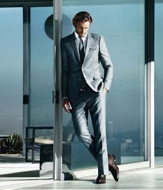 Gabriel Aubry & Zhao Lei by Stefan Armbruster for Hugo Boss Selection Spring/Summer 2012 Campaign Gabriel Aubry, Sharp Dressed Man, Well Dressed Men, Boss Selection, Wilhelmina Models, Fashion Advertising, Suit And Tie, Gentleman Style, Stylish Men