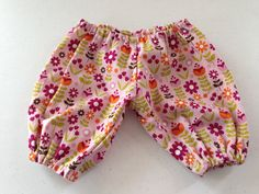 Infant mauve floral harem style pants by KodgeKraft on Etsy