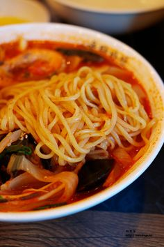 Noodles are yummy! Seafood Jjamppong