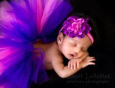 Baby in pink n purple