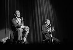Frank Sinatra and Dean Martin performing at a Share Party circa 1963