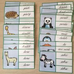 Kartičky obrázek - slovo/ zvířata Struktura, Grade 1, Bullet Journal, Comics, Comic Book, Comic Books, Comic, Comic Strips, Cartoons