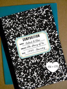 Old School Love Story Wedding Invitations by MostazaSeedGraphics, $4.00