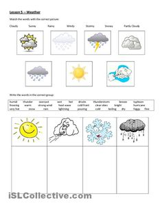 Weather worksheet - Free ESL printable worksheets made by teachers