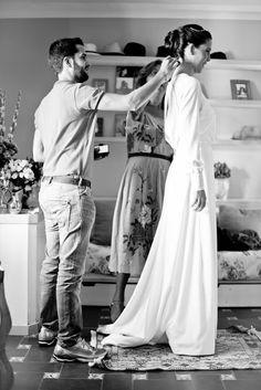 La boda de Manuela y Alfonso en Sevilla. Vestido Carmen Maza