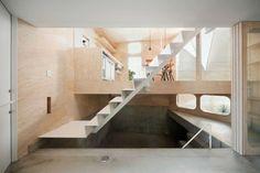 Herringbone House: Tiny Tokyo Residence Split into 7 Levels