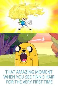 Finn's hair in that Adventure Time episode