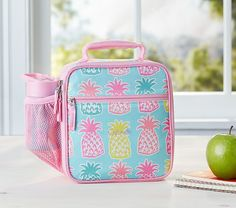 Mackenzie Aqua Pineapple Lunch Bag | Pottery Barn Kids
