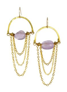 """""""Lavender Amethyst"""" - Gold Brass... Rise Collection by Sonia Lub"""