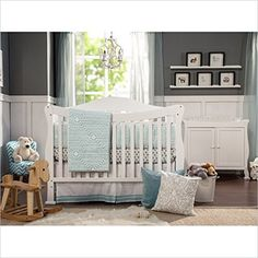 DaVinci Parker 4-in-1 Convertible Wood Crib and Dresser Set in White