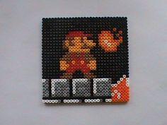 Super Mario Bros: Mario Scene Perler Bead Sprite