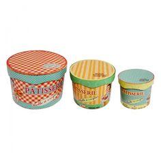 Conj. 3 Caixas Madeira Redondas Patisserie | Boutique de Luxo @ BoutiqueDeLuxo