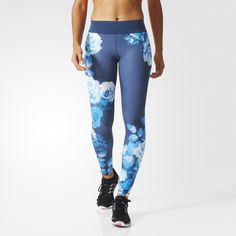 In a feminine flower print that celebrates the athletes from Europe heading to Rio, these women's high-performance tights are made to help you power through your workout. Cut for a flattering fit that shapes and supports your body, the women's tights are made with opaque material that allows you to bend and stretch with confidence. climalite® wicks away moisture to keep you feeling dry and comfortable.