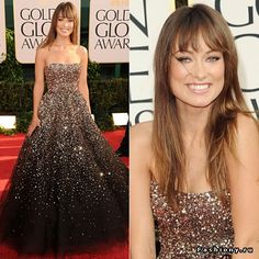 Olivia Wilde in marchesa black version Most Beautiful Dresses, Unique Dresses, Cute Dresses, Prom Dresses, Long Dresses, Elie Saab, Formal Gowns, Strapless Dress Formal, Long Sparkly Dresses