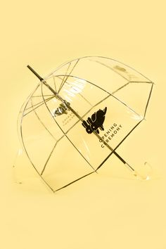 A surround-umbrella, transparent, keeps your duds dry AND makes sure everyone can see your style