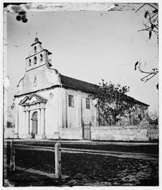 Cathedral during Civil War  https://en.wikipedia.org/wiki/St._Augustine_Town_Plan_Historic_District