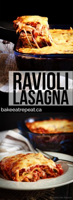 An easier and faster version of a favourite pasta dish, this ravioli lasagna is absolutely amazing. Quick to make and tastes like the real thing!