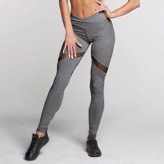 Best Value $9.00, Buy Fashion Sexy Leggings Peach Heart Shaped Trousers Mesh Patchwork Long Pants Women Skinny High Waist Pencil Pants WS3644C