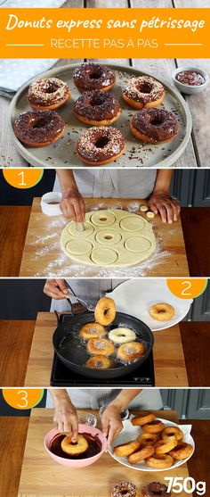 Express donuts without kneading - Beignets de Mardi gras Delicious Donuts, Delicious Cake Recipes, Yummy Cakes, Dessert Recipes, Beignets, Sponge Cake Recipes, Donut Recipes, Classic Peanut Butter Cookies, Gluten Free Donuts
