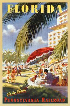 Florida, Go By Train Prints at AllPosters.com