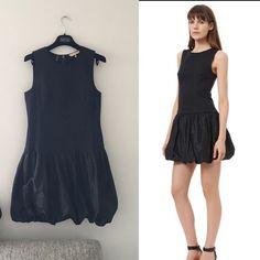 Rebecca Taylor snake print bubble hem dress black In great condition. Size 4 Rebecca Taylor Dresses
