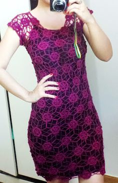 Melhor do Crochê: Vestido em crochê - Meus trabalhos