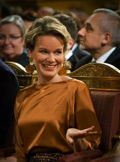 Queen Mathilde of Belgium attends the Christmas concert at the Royal Palace in Brussels, 11.12.13