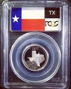 Silver 2004-S Proof Texas State Quarter graded PR69 Deep Cameo by PCGS