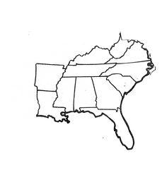 Southeast Region US Regions Interactive Notebook Map School - Southeast region us map