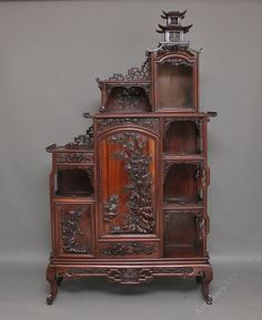19th Century Chinese Rosewood Cabinet - Antiques Atlas