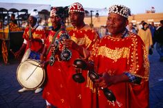 Gnaoua musicians on Djemaa-El-Fna square.
