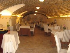 The interior of Il Buco Restorante in Sorrento, Italy, where we celebrated our engagement! Great restaurant!!