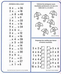 ejercicios de matemáticas multiplicación - Buscar con Google Kids Math Worksheets, Teaching Resources, Math Games, Math Activities, Teachers Corner, Math Multiplication, Primary Maths, Third Grade Math, Homeschool Math