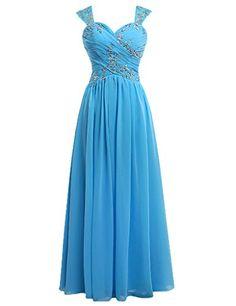 Dress U Cap Sleeve Pleated Beading Top Bridesmaid Dress Long Evening Dresses Blue US 6 Dress U http://www.amazon.com/dp/B00V49MAZE/ref=cm_sw_r_pi_dp_prlhvb1B2A4TK