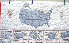 Sensational Vintage EMBROIDERED UNITED by TextilesandOldThings