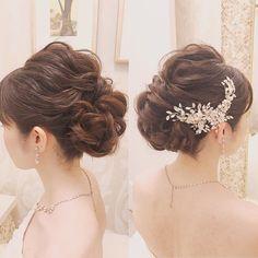 いいね!133件、コメント1件 ― Hair&Make LISA/Sayumi Bridalさん(@sayumibridal_hairmakelisa)のInstagramアカウント: 「存在感あるビジュー❤︎ 首筋をしっかり魅せて😉✨ hair and make up by @ico.808hawaii @takamibridal_costume…」 Party Hairstyles, Wedding Hairstyles, Chic Wedding, Dream Wedding, Bridal Hairdo, Hair Arrange, Hair Setting, Designer Wedding Gowns, Bridal Hair Accessories