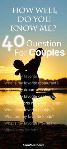 How Well Do You Know Me? 40 Questions for Couples