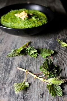 Nettle Pesto - Naked Cuisine` Personally I would substitute olive oil for butter or coconut oil w/ a little extra water. Butter is as healthy if not healthier( Has the same and other health benefits) than Coconut oil or Olive oil... and so many other oils are cut with soy, corn or veggie oils. Other than that , sounds delicious!  ツ