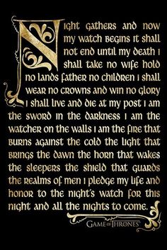 The night s watch oath