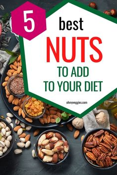 Do you love nuts, but aren't sure which ones are the best to eat and why? Here are the best nuts you should be adding to your diet. Vegetarian Protein, Vegetarian Cooking, Protein Sources, Veggies, Nutrition, Ads, Diet, Vegan, Healthy