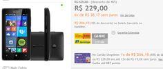 "Smartphone Microsoft Lumia 532 Dual Chip Windows 8.1 Tela 4"" 8GB 3G Câmera 5MP << R$ 20610 >>"