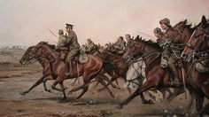 Alcantara Regiment of Horse charging during the Spanish Civil War Military Diorama, Military Art, Military History, Military Uniforms, Turkish War Of Independence, Independence War, Drawing Projects, American War, Art Themes
