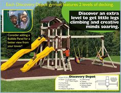 Shed Storage, Play Houses, Nice View, Kids Playing, Discovery, Bubbles, Deck, Tower, Backyard