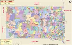 Buy South Dakota Zip Code Map from Worldmapstore in different sizes and best printable quality.