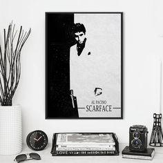 Scarface Minimalist Movie Poster Movie Prints Black White