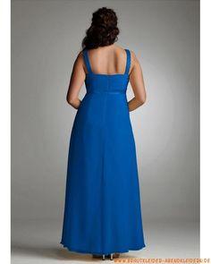 Blaues großes Abendkleid aus Chiffon