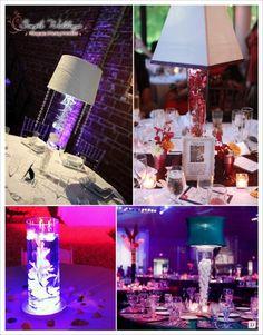 centre de table mariage lampe abat jour