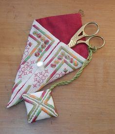 scissor case & scissor fob - Brodeuse Bressane